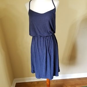 Ann Taylor LOFT Dress Sz S Navy Blue Stretch Knit